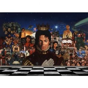 King Of Pop 3D Behang - Gelijmde