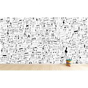 Muzieknotities En Voorwaarden Fotobehang 3D - Gelijmde