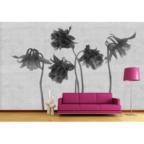 Florale Kunst 3D Behang - Gelijmde