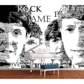 Legenden Van Muziek 3D Behang - Gelijmde