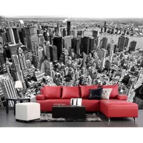 New York Zwart En Wit 3D Behang