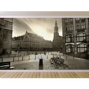 Zonsondergang In Zwart En Wit Poster - Gelijmde