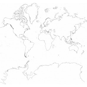 Wereldkaart Tekening Houtskool