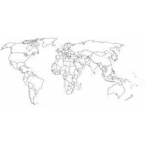 Verwijderbare Wereldkaart
