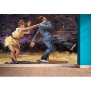 Swing Dansen Fotobehang 3D - Gelijmde
