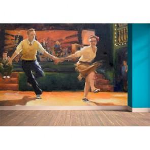Lindy Hop Dance Choreo Poster - Gelijmde