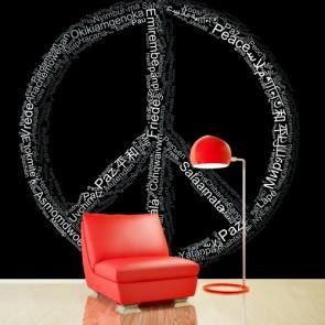Vrede In Je Spraak 3D Behang - Gelijmde