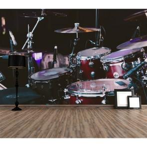 Drums Fotobehang 3D - Gelijmde