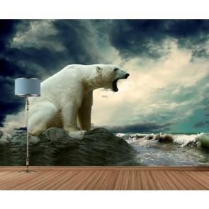 Opwarming Van De Aarde 3D Behang - Gelijmde