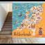 Nederland Toeristische Kaart Fotobehang Gelijmde