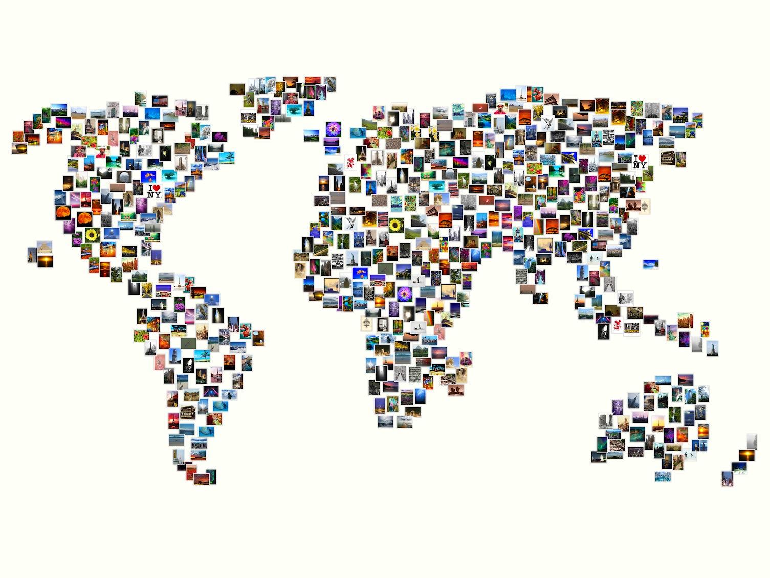 Wereld In Foto'S 3D Fotobehang